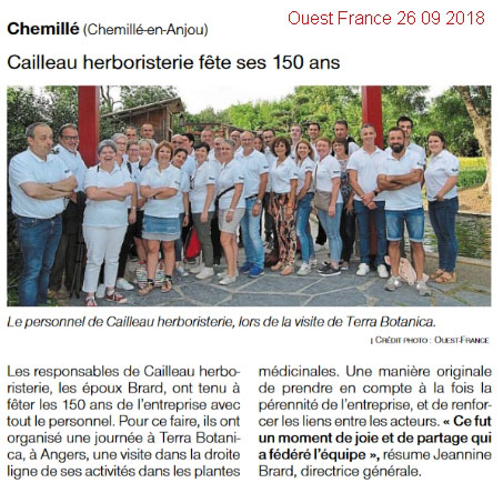 Cailleau Herboristerie celebrates 150 years!